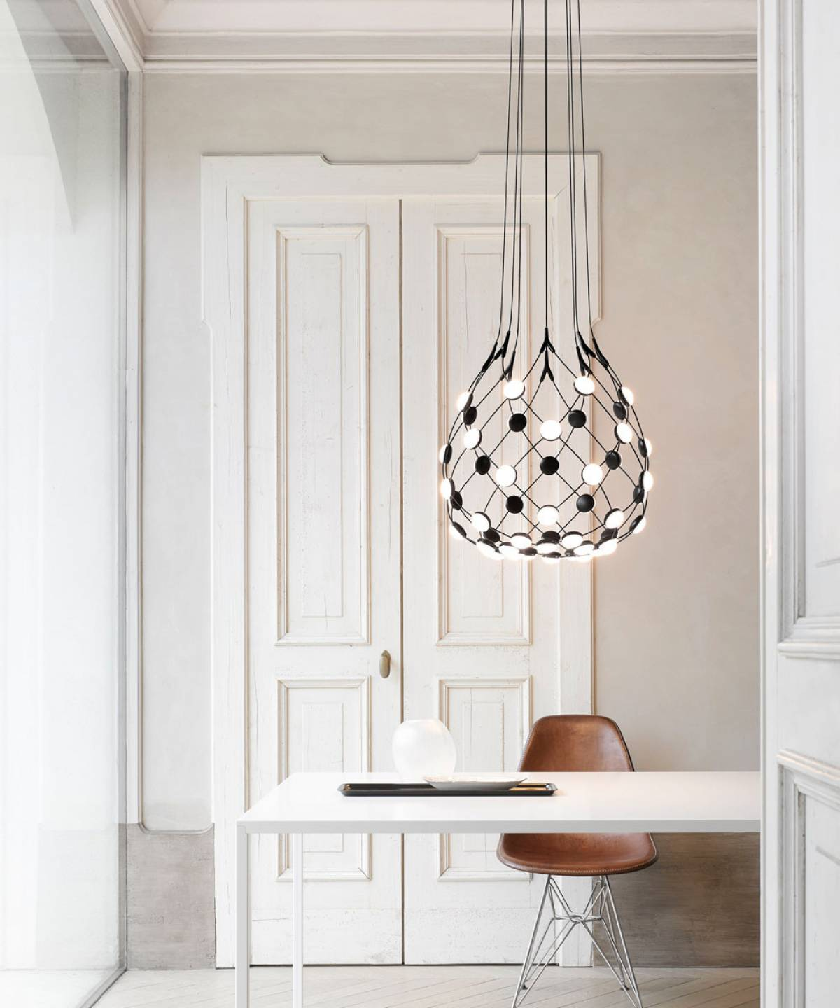 2 Mesh suspension lamp Luceplan