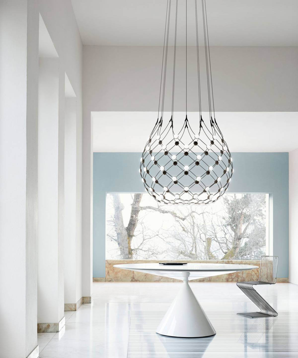 1 Mesh suspension lamp Luceplan