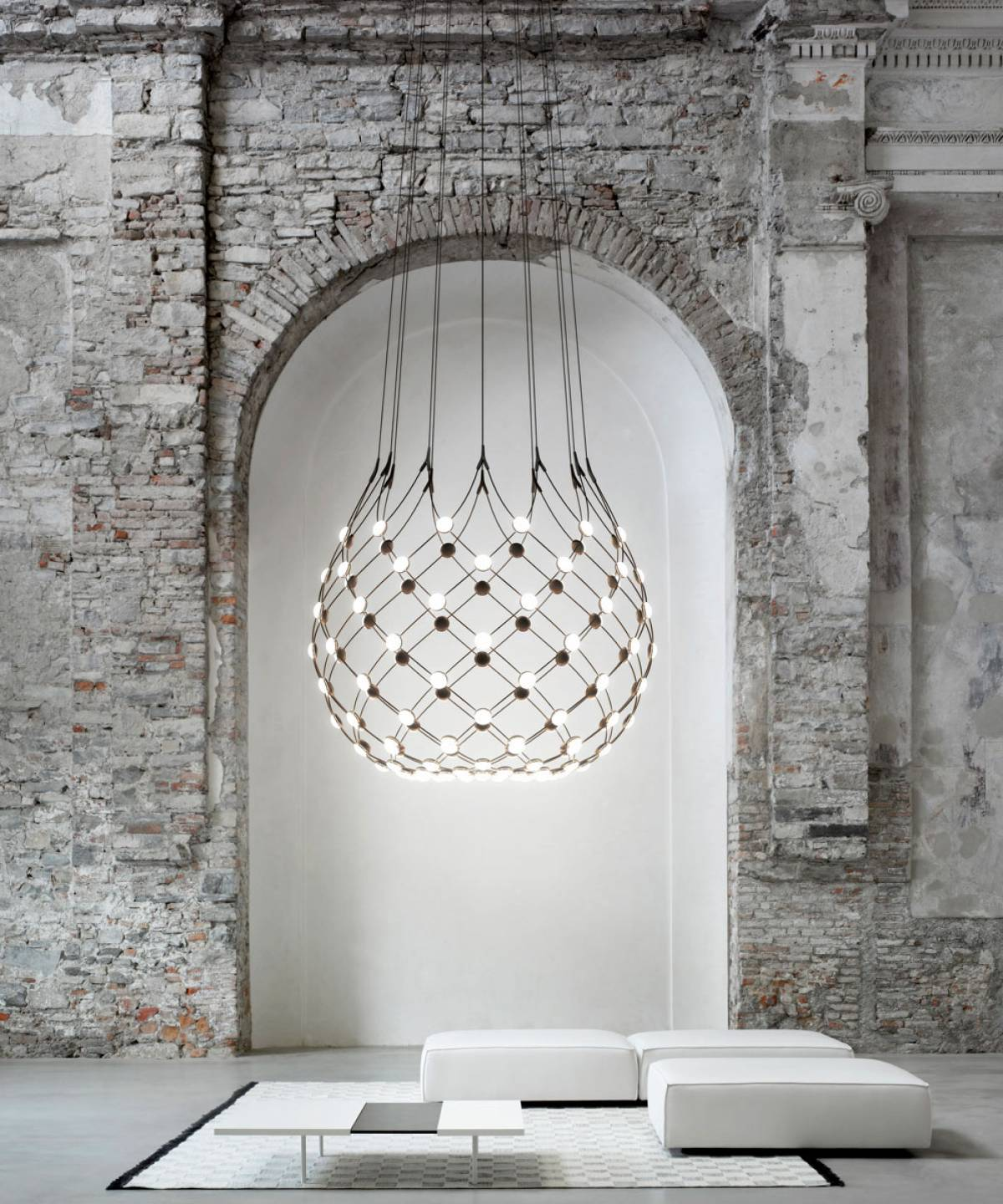 Mesh suspension lamp Luceplan