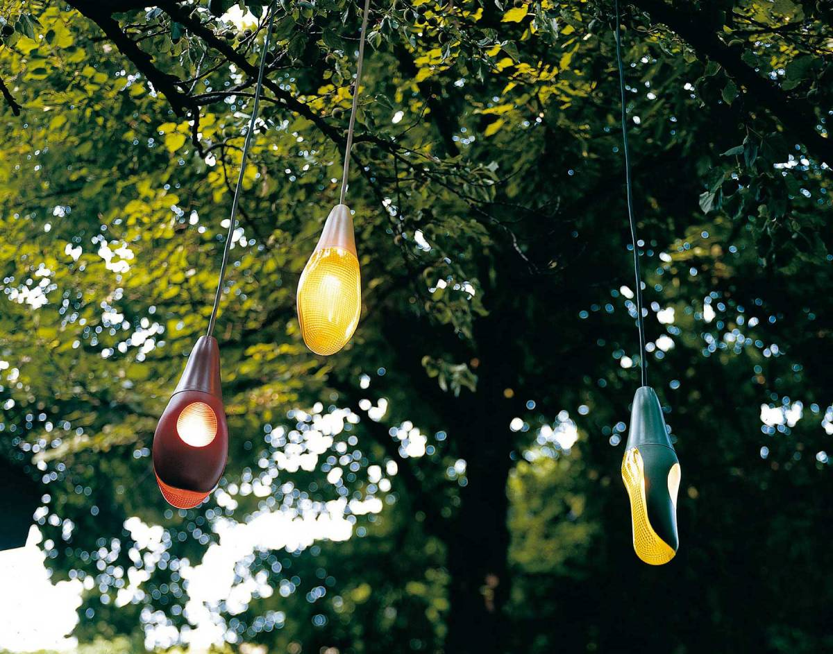 Pod Lens suspension lamp outdoor Luceplan